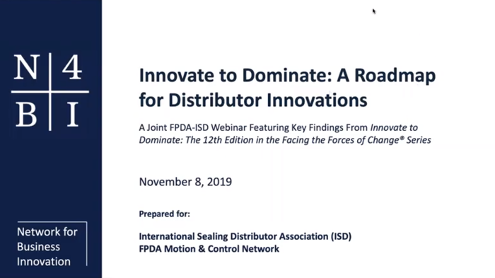 FPDA/ISD Joint Post-Summit Webinar: Innovate to Dominate: A Roadmap for Distributor Innovations
